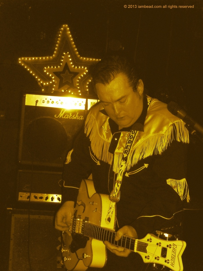 Boz Boorer in action with the Polecats. Taken 29 Oct 2011 at Thomas House, Dublin.